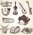 Vintage pack of musical instruments