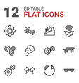 12 motion icons vector image vector image