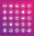 25 fitness icons pack gym workout exercises vector image