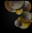 3d abstract design background golden black vector image