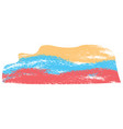abstract flag sketch of colombia vector image vector image