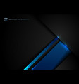abstract template black and blue geometric vector image vector image