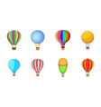airballoon icon set cartoon style vector image