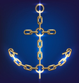 Anchor gold vector image