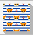 Animal seamless pattern collection with fox 2