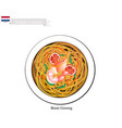 bami goreng or dutch stir fried noodles vector image vector image
