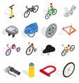 Bicycle icons set isometric 3d style vector image