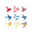 bird logo icon graphic template vector image vector image