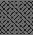 black and grey geometric seamless pattern vector image