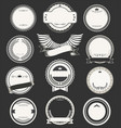 blank retro vintage badges and labels collection vector image vector image