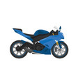 blue sport race motorbike in vector image