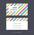 business card template abstract design set vector image