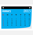 Calendar january 2015 vector image