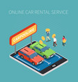 car rental isometric concept vector image vector image