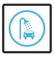 Car Shower Framed Icon vector image