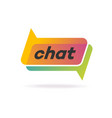 chat logo gradient style isolated on background vector image vector image