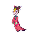chinese vampire ghost for halloween vector image vector image
