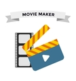 Cinema film clapper board vector image