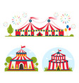 circus show entertainment tent marquee marquee vector image vector image