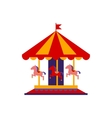 Classic Carousel With Horses vector image vector image