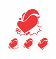 collection red love heart vector image vector image