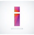 colorful logo letter i vector image