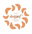 croissant circle frame vector image vector image