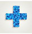 Cross Blue Heart vector image vector image
