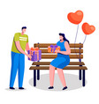dating couple making gifts on anniversary vector image