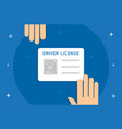 drivers license flat minimal style colorful icon vector image