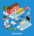 education isometric concept vector image