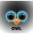 Eyes of a owl in the darkness vector image vector image