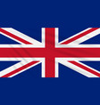 flag great britain swaying in wind vector image