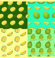 fresh durian pattern set cartoon style vector image vector image