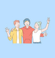 friendship day team cooperation concept vector image