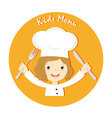 girl chef vector image vector image