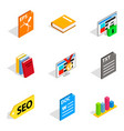 government official icons set isometric style vector image vector image
