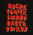 graffiti font editable alphabet vector image