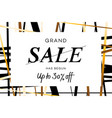 grand sale banner flyer or poster with vector image