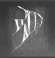 hand drawn aquarium fish sketch elements isolated vector image vector image