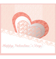 Happy valentines day lace card vector image