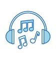 headphones note music sound harmony vector image