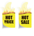 hot price hot sales labels vector image vector image