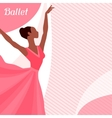invitation card to ballet dance show vector image