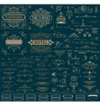 Kit of Vintage resources for Invitations Banners vector image vector image