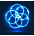 Light circles abstract neon lights flashes vector image vector image