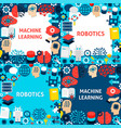 machine learning paper templates vector image