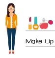 Make-up and womens cosmetics vector image vector image