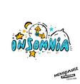 menopause symptoms doodles vector image