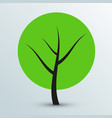 modern flat green tree icon vector image vector image